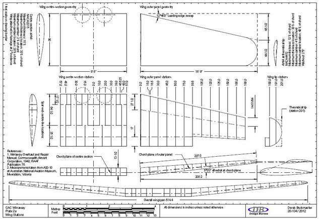 Db design bureau drawings of the cac wirraway aircraft for Bureau 2a form